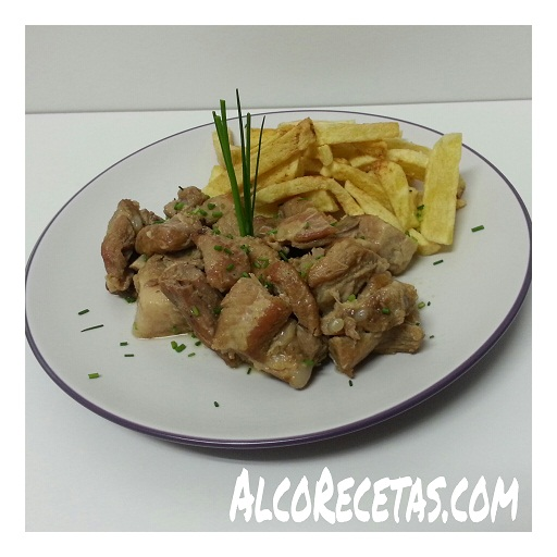 Costillas al ajillo en olla GM